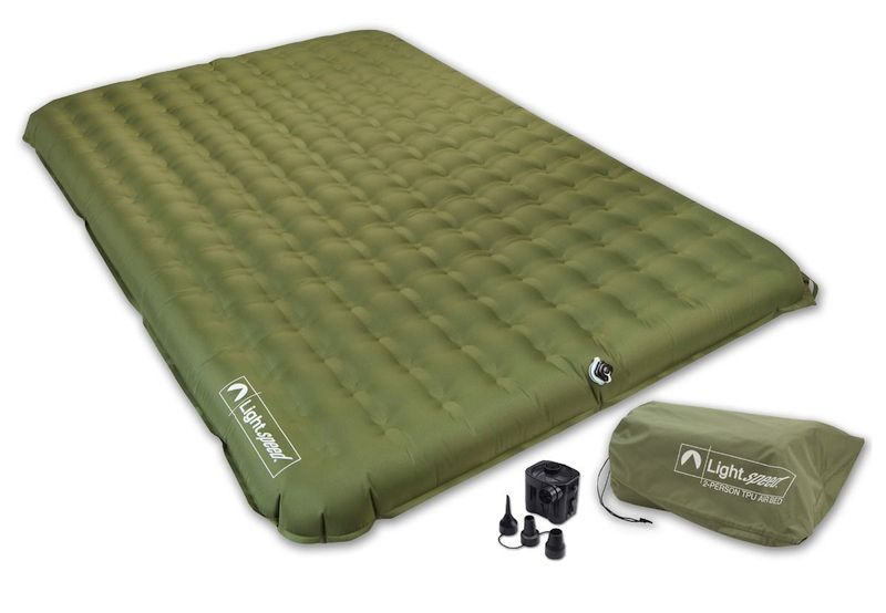 Best Camping Air Mattress — Lightspeed Outdoors 2 Person PVC-Free Air Bed Mattress