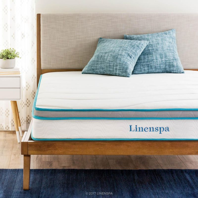 Best Mattress For A Guest Room — Linenspa Memory Foam and Innersprring Hybrid Mattress